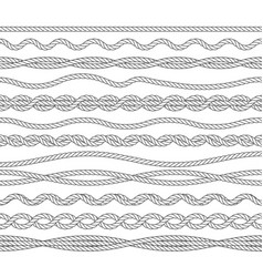 nautical ropes monochrome outline vector image