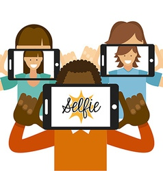 photo selfie vector image