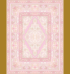 Pink carpet with abstract flowers vector