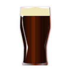 Pint beer glass vector