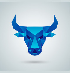 Polygonal bull head vector