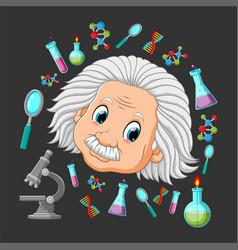 Professor eisten with physics vector