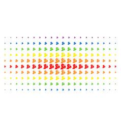 Radio telescope spectral halftone grid vector
