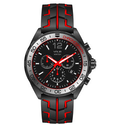 red grey steel watch clock chronograph for men vector image