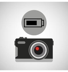 retro camera photographic battery vector image