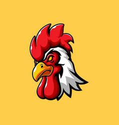 Rooster head mascot logo vector