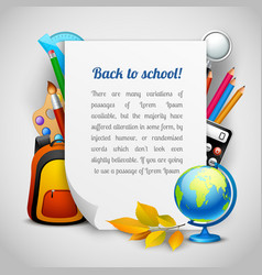 School elements background vector