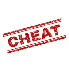 Scratched textured cheat stamp seal vector