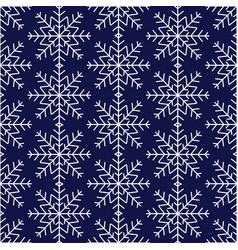 seamless pattern of snowflakes winter background vector image