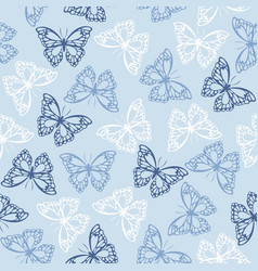 seamless pattern with colored butterflies vector image
