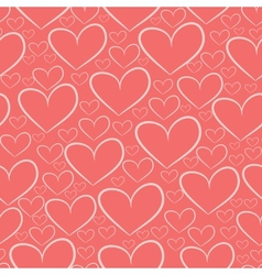 Seamless pattern with silhouettes of hearts vector image