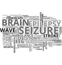 Seizure word cloud concept vector
