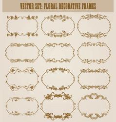 Set of decorative hand drawn elements vector