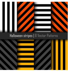 set of patterns for halloween stripes background vector image