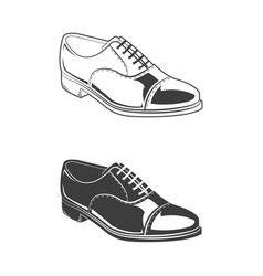 set of two shoes vector image
