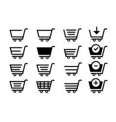 Shopping shopping trolley pushcart or handcart vector