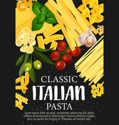 spaghetti pasta and italian macaroni with spices vector image