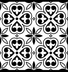 Spanish tiles pattern moroccan orportuguese tile vector