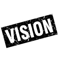 Square grunge black vision stamp vector