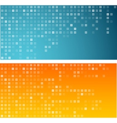 Squares technology banners vector image
