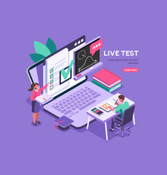 test for diploma students academy vector image