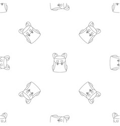 universal backpack pattern seamless vector image