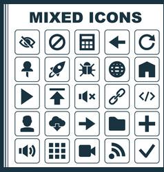 User icons set collection ahead forbidden vector