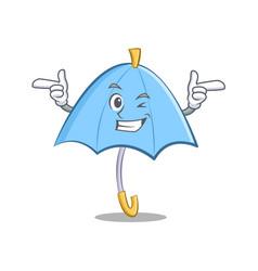 Wink blue umbrella character cartoon vector