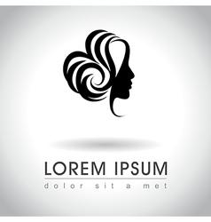 Woman face logo vector