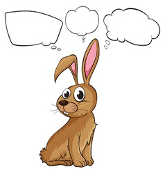 A brown bunny with empty callouts vector image