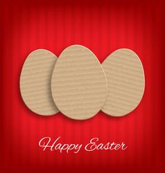 cardboard easter eggs vector image vector image