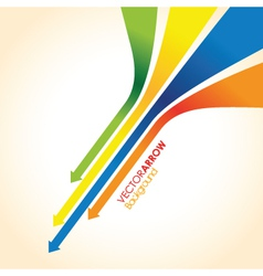 coloured arrow background vector image