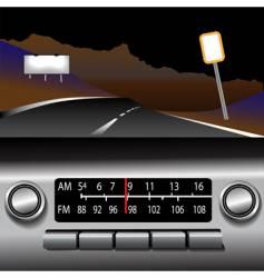 dashboard radio vector image vector image