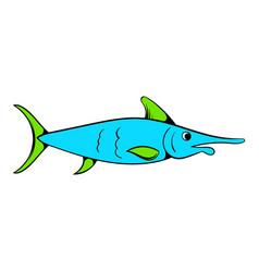 fresh fish icon icon cartoon vector image vector image