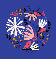 hand drawn fantasy flowers vector image vector image