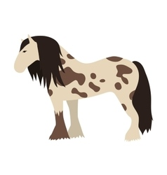Horse isolated animal vector image
