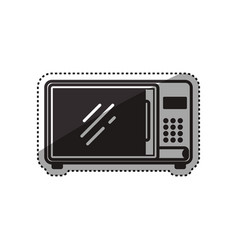 microwave household appliance vector image vector image