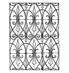 Modern pattern has curved lines vintage engraving vector