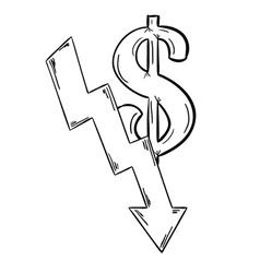 sketch of the money vector image