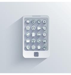 smartphone icon background Eps10 vector image