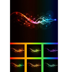 abstract wave pack vector image vector image