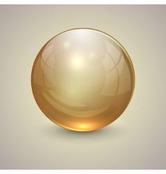 golden transparent globe on light background vector image