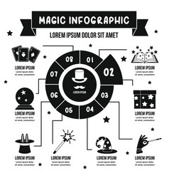 magic infographic concept simple style vector image