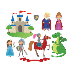 set of fairy tale character vector image