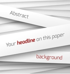 White paper rectangle banner on abstract 3d vector image vector image
