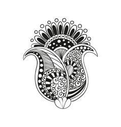 zentangle boho flower vector image vector image