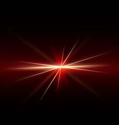 Abstract spark and light strips red tone on middle vector