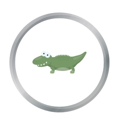 Crocodile cartoon icon for web and vector image