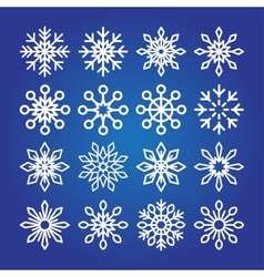 Decorative Snowflakes icon collection vector image vector image