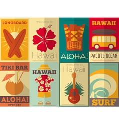 Hawaii Surf Retro Posters vector image